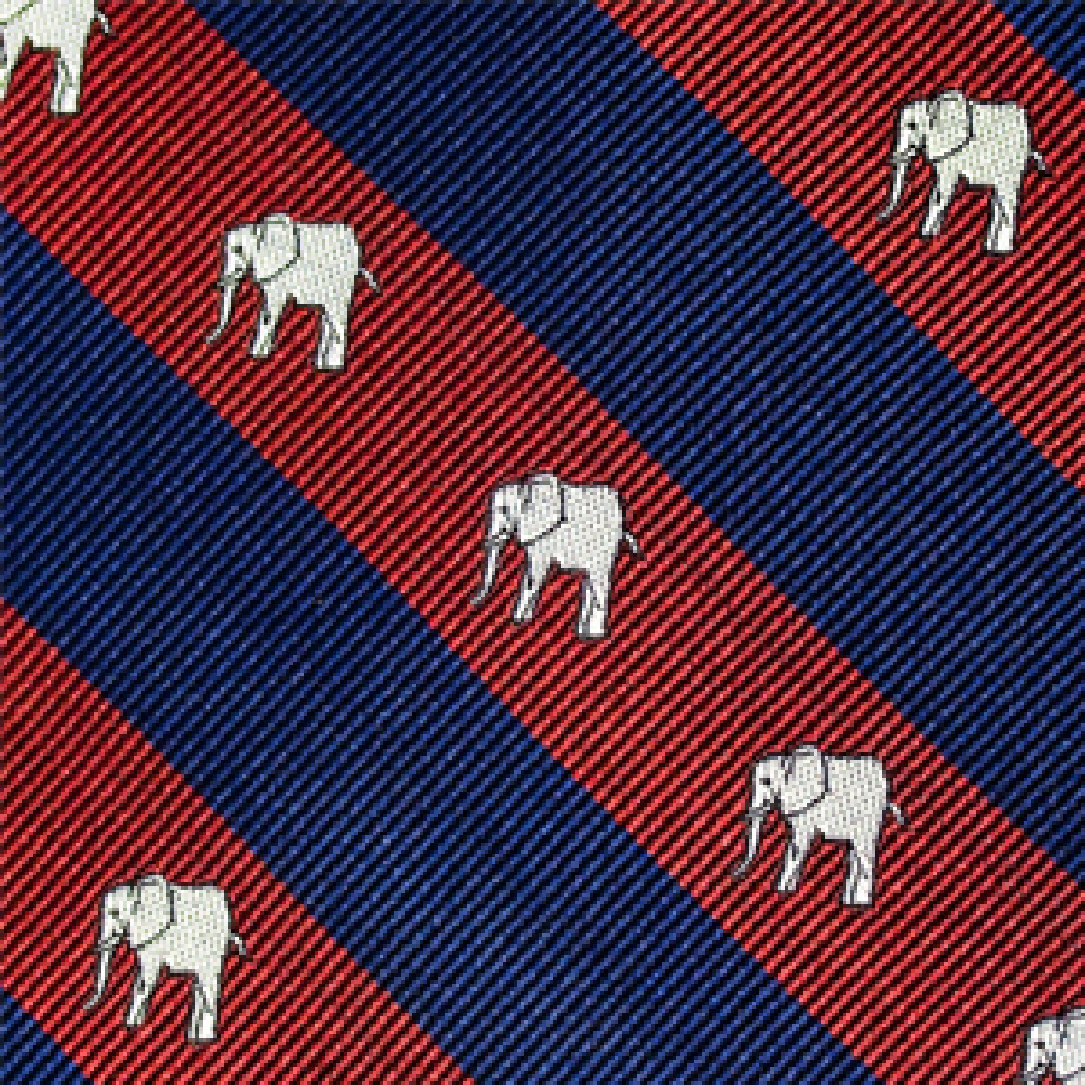 Elephant Repp Bow Burgandy